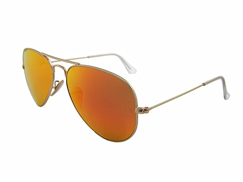 New Ray Ban Aviator RB3025 112/4D Gold/Red Brown Mirror Polarized 58mm - Ray Mirror Aviator Ban Red