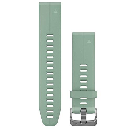 Garmin 010-12739-06 Quickfit 20 Watch Band - Grayed Jade Silicone - Accessory Band for Fenix 5S Plus/Fenix 5S