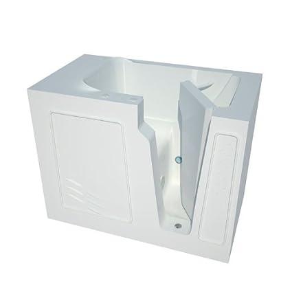Meditub MT2952RWS Curved Door 29 By 52 By 40 Inch Walk In Soaker Bathtub Spa