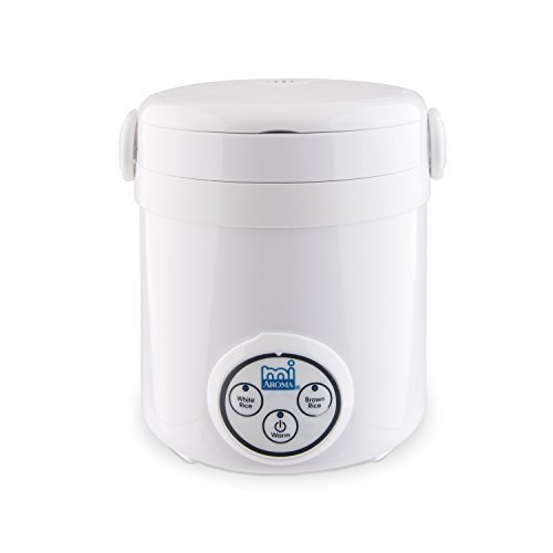 Aroma Housewares Mi 3-Cup (Cooked) (1.5-Cup UNCOOKED) Digital Cool Touch Mini Rice Cooker