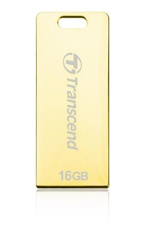 - Transcend JetFlash Elite T3G 16GB 16GB USB 2.0 Gold USB Flash Drive