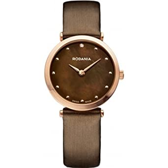 Rodania Swiss Damen-Armbanduhr Elios Silk Analog Quarz Leder RS2505735