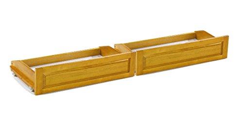 Universal Futon Storage Drawers Full Size (2 pcs) Golden Oak by Prestige Furnishings