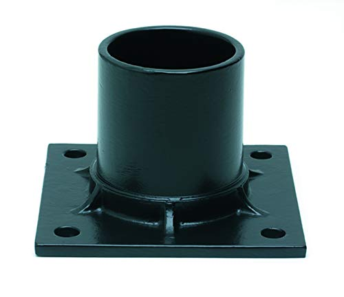 Solo Lights Black Aluminum Pier Mount Adapter Base for 3'' Diameter Stub Post. Mounting Hardware - Column Post Lights Mount