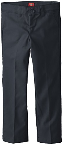 Dickies Little Girls' Slim Stretch Flat Front Pant, Dark Navy, 6 -