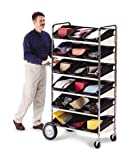 Charnstrom Six Shelf Mobile Bin Cart (B237)