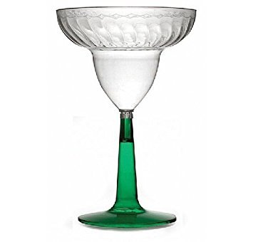 Fineline Settings Flairware Green 12 oz. Two Piece Margarita Glass  96 Pieces