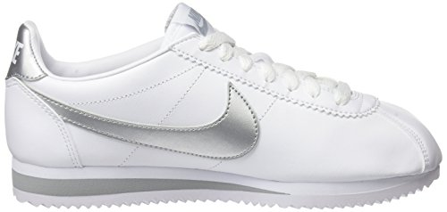 Metallic Cortez Donna Grey White wolf Bianco Sneaker NIKE Classic Silver 4YxAgg