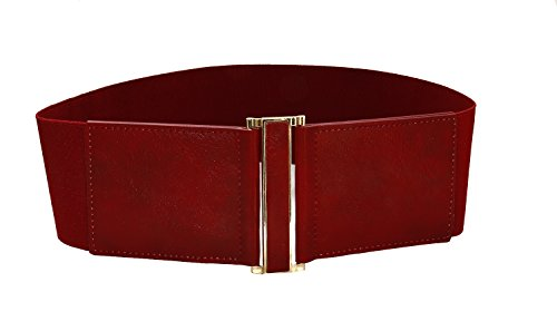 Elastic Leather Cinch Belt (Modeway Women's Belt Faux Leather 3