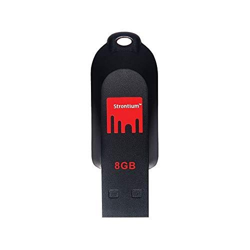 Strontium Pollex 8GB USB Pen Drive (Black/Red)