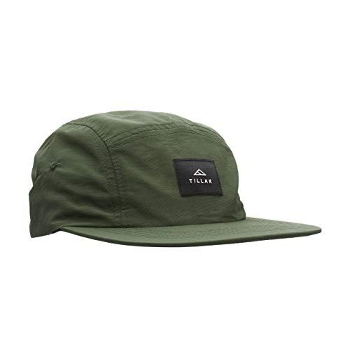 - Tillak Wallowa Camp Hat, Lightweight Nylon 5 Panel Cap with Snap Closure (Fir Green)