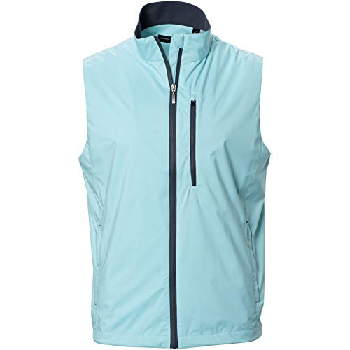 Jones Zip - Carnoustie Mens Jones Full Zip Rain Vest Light Blue XL