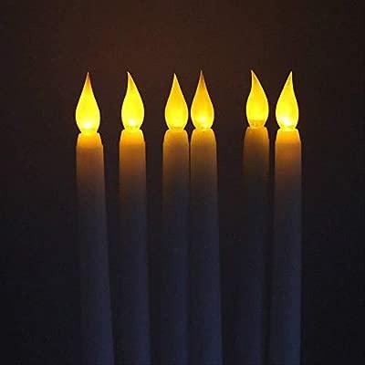 4 piezas Led con pilas vela blanca sin chispas barra de luz ...