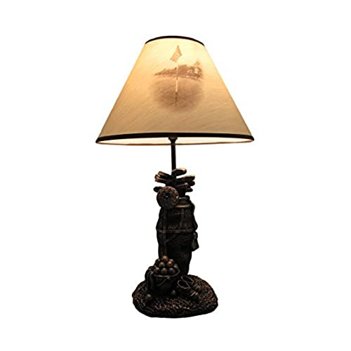 Golf lamps amazon resin table lamps golf lovers tee light golf bag table lamp wdecorative shade 8 x 20 x 7 inches brown aloadofball Gallery