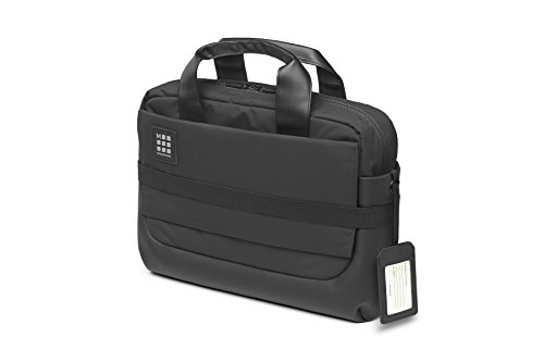 (Moleskine ID Briefcase, Black - For Work, School, Travel & Everyday Use, Space for Devices, Tablet, Laptop, Chargers, Notebook Planner or Organizer, Secure Zipper)