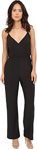 Brigitte Bailey Women's Luna Spaghetti Strap Jumper Black Jumpsuit MD