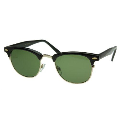 zeroUV® - Vintage Half Frame Semi-Rimless Wayfer Style Classic Optical RX Sunglasses
