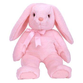 Hoppity Bunny - TY Beanie Buddy - HOPPITY the Pink Bunny