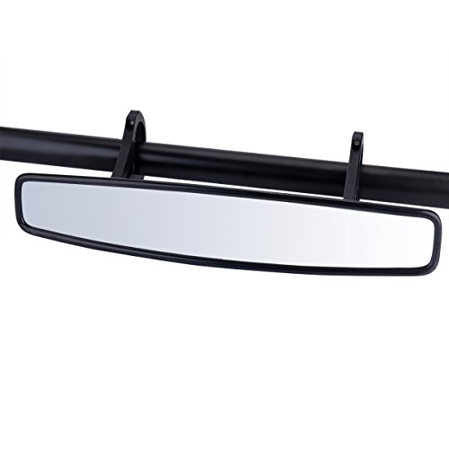 15'' Wide Angle UTV Rear View Race Mirror with Anti-Scratch Shatterproof Glass, Moveland Convex Mirror with 1.75-inch Clamp for Polaris RZR 800 1000 S 900 XP 1000 and More by moveland (Image #7)