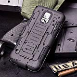 Cocomii Robot Armor Galaxy S5 Case NEW [Heavy Duty] Premium Belt Clip Holster Kickstand Shockproof Hard Bumper [Military Defender] Full Body Dual Layer Rugged Cover for Samsung Galaxy S5 - Cases S5 For Dollar Galaxy