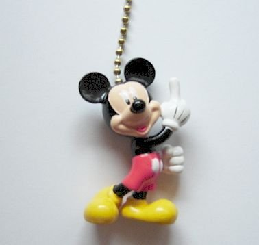 New Disney Mickey Mouse Figural Ceiling Fan Light Pull - Figural Light