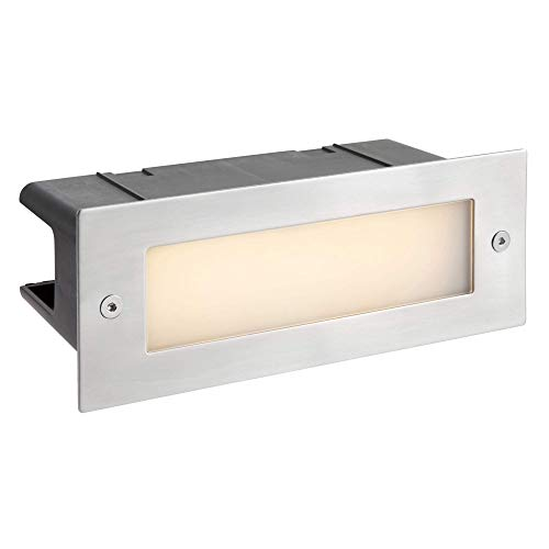 - Zip-LED Step Light Marine Grade Stainless Steel, 100V-240V Input Voltage, 3000K Warm White, Wet Location IP44, for use Outdoor on Landscape, Patio, Deck, Recessed Wall, Walkways