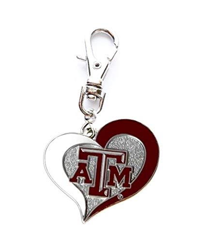 - Texas A&M University Aggies Charm for A Zipper Pull Small PET Dog CAT Collar Purse DIY Projects ETC