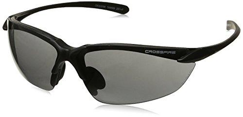 921 Glasses (Crossfire 921 Sniper Safety Glasses Smoke Lens - Matte Black Frame)
