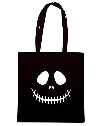 T-Shirtshock - Bolsa para la compra OLDENG00647 skeleton face Negro