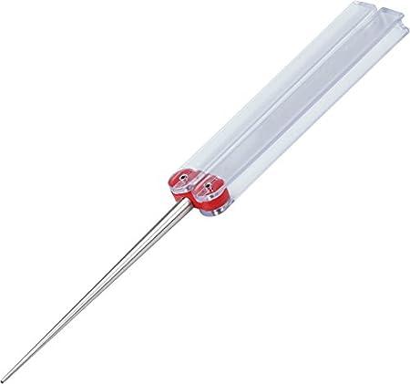 DMT DiaFold Diamantschärfstab - konische Form - rot/fein (600) - für Messer mit Wellenschliff - klappbare Kunststoffgriffe