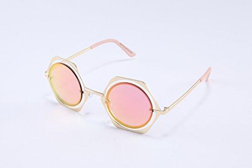 TomYork Womens Euroupe And America Style Round Retro Sunglasses(C4)