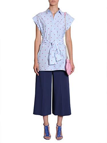 Boutique Claro Moschino Mujer Algodon A021308191293 Blouse Azul xnqwTPq10A