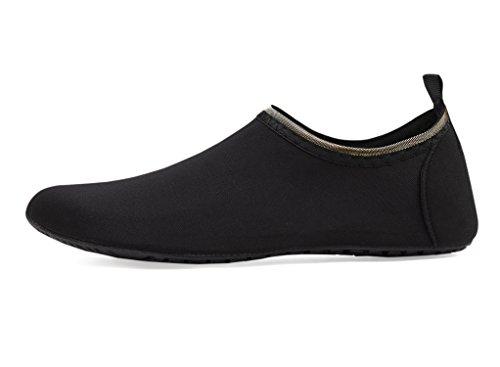 Secado Calzado de Respirable Zapatos LK de de Agua LEKUNI de Zapatos de Color Playa Rápido Soles Agua Natación Tkc Unisex schwarz Piscina c0r0qFAPz