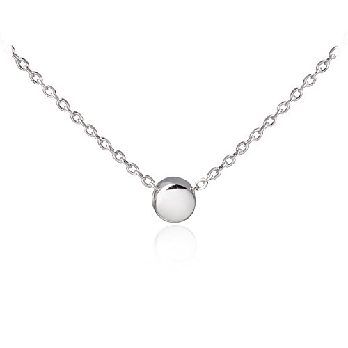 sleaf-minimalism-tiny-dot-necklace-sterling-silver-ball-pendant-collar-necklace-silver