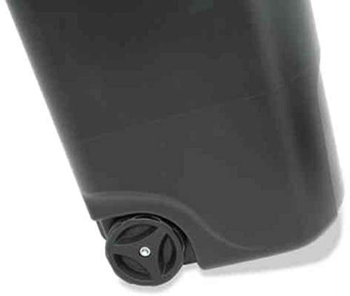 45 Gallon Wheeled Trash can Garbage Container Outdoor Plastic Waste Bin Basket Black - Trash can with lid - Kitchen Trash can - Outdoor Trash can for Patio Camping Trash can - trash can with wheels.