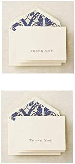 product image for Crane & Co. Gold Hand Engraved Regency Thank You Note - Pack of 10 (CT1265),Ecruwhite (Тwо Расk)
