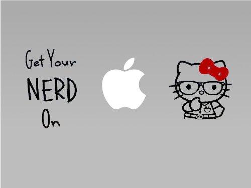 Hello Kitty Nerd - Vinyl Macbook / Laptop Decal Sticker Graphic