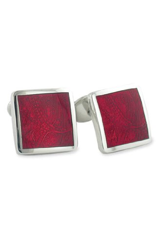 David Donahue Sterling Silver Paisley Cufflinks - Wine (H95030402)