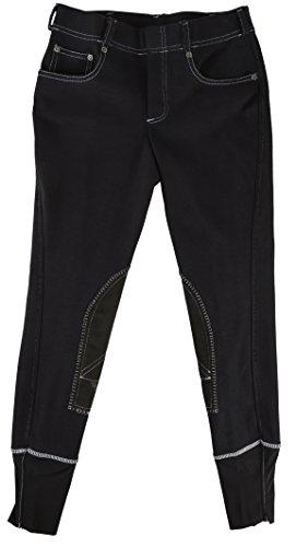 TuffRider Girl's Newbury Pull-On Breech with Contrast