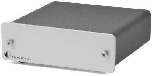 Pro-Ject Audio - Phono Box USB - MM/MC Phono preamp with line & USB outputs - Silver by Pro-Ject