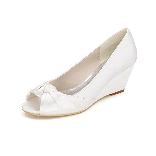 donna tacchi damigella scarpe white da vestono scarpe confortevole Dancing banchetti Pendenza con Qingchunhuangtang scarpe alti X7zXq