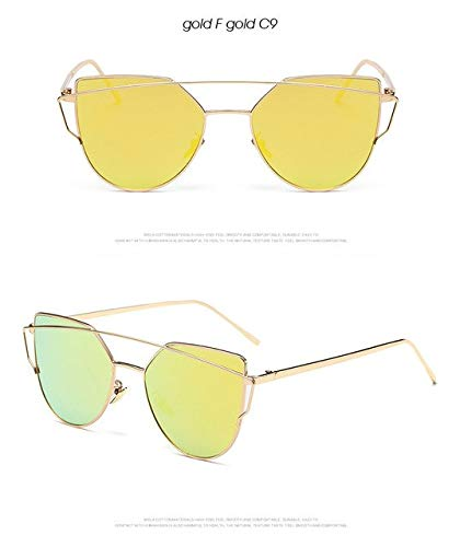 0c68451da12615 Shopystore C9 Gold F Gold: Banstone Fashion Cat Eye Sunglasses For Women  Classic Twin-Beams Sunglas: Amazon.in: Clothing & Accessories