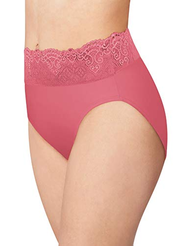 Bali Smooth Passion for Comfort Lace Hi Cut Brief, 8, Terracotta Pink