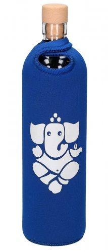 Botella de vidrio Flaska Azul Ganesha
