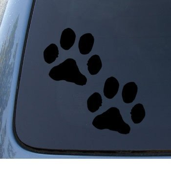 Paw prints puppy dog car truck notebook vinyl decal sticker