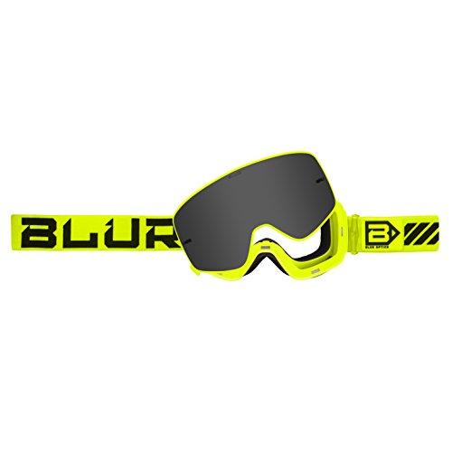 Blur B-50 Force Goggle with Magnetic Silver Mirror lens, Hi-Viz (Eyewear Protective Sniper)