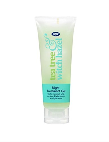 Boots Tea Tree & Witch Hazel Night Treatment Gel 75ml Tea Tree Witch Hazel