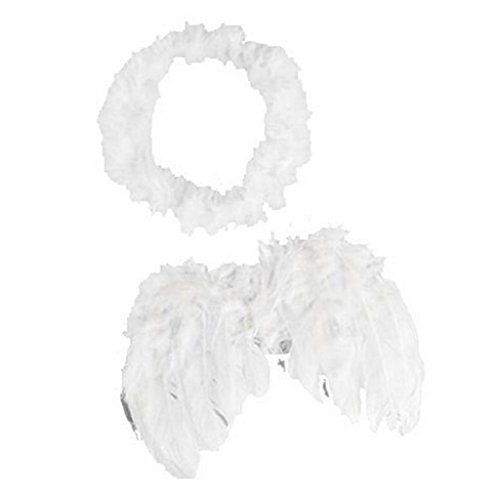 Unisex Feather Angel Fairy Costume
