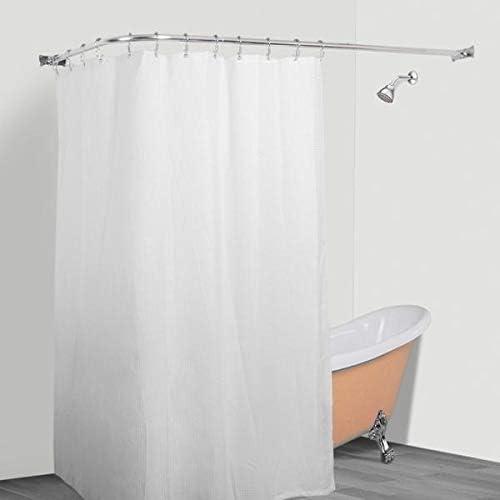 Amazon.com: MISC L Shaped Shower Curtain Rod Aluminum Wrap Around