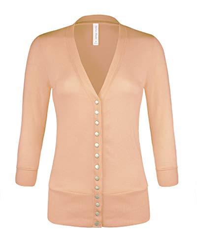 - Instar Mode Women's Soft Basic V-Neck 3/4
